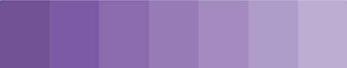 levendula lila monokróm színei